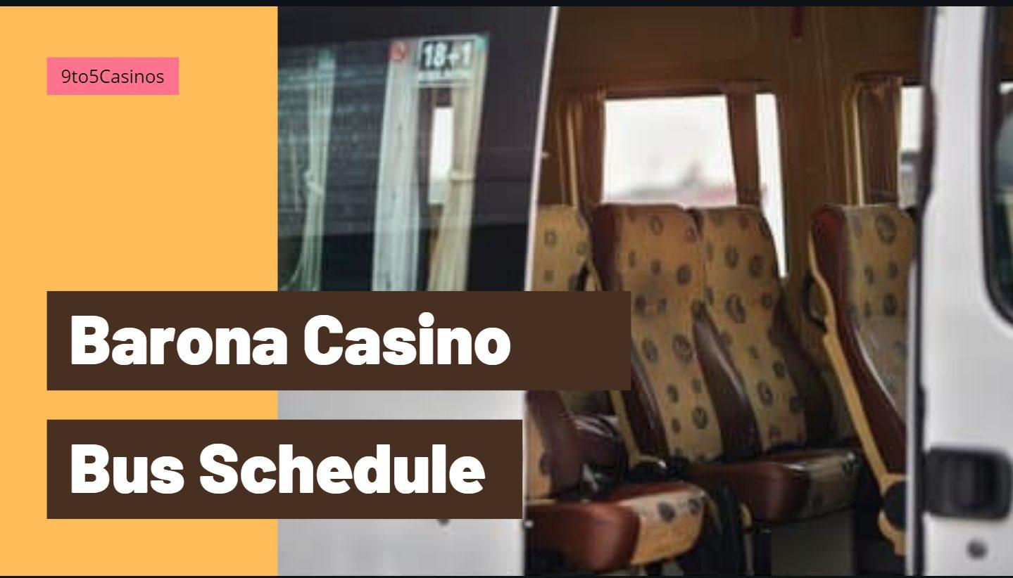 barona casino bus schedules