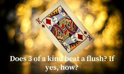 does 3 of a kind beat a flush?